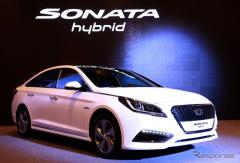 【デトロイトモーターショー15】ヒュンダイの主力セダン、ソナタ 新型に ハイブリッド…燃費は8.3%向上(レスポンス)の画像