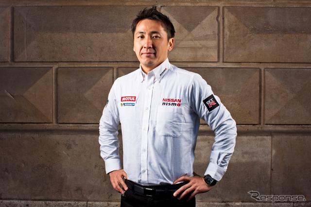 Nissan GT-R LM NISMOを駆ってのルマン24時間挑戦が決まった松田次生。写真:NISSAN