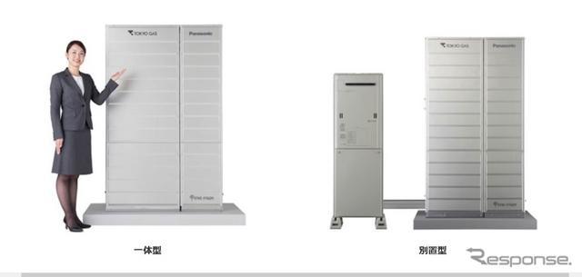 東京ガスとパナソニックが共同開発した家庭用電量電池「エネファーム」の新製品