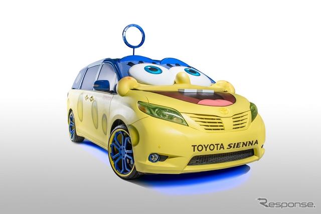 トヨタシエナのスポンジ・ボブ仕様