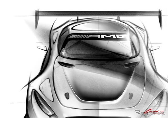 メルセデス-AMG GT3 の予告スケッチ