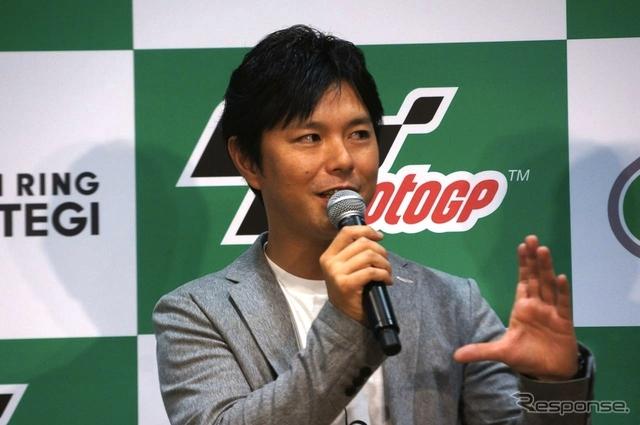 中野真矢氏(Moto GP 日本グランプリPRイベント)《撮影 椿山和雄》