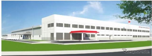 日立オートモティブシステムズインドネシア 新工場完成予想図
