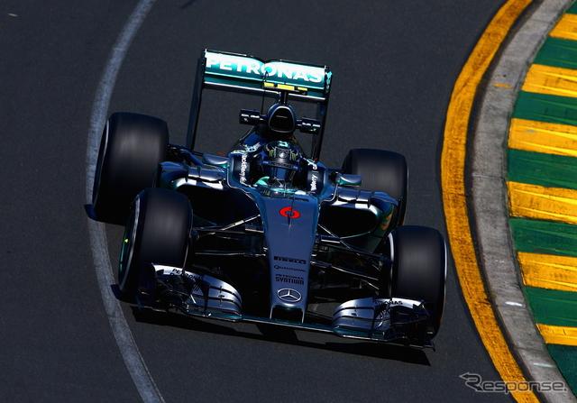 オーストラリアGP初日トップのニコ・ロズベルグ(メルセデス)《画像 Getty Images》