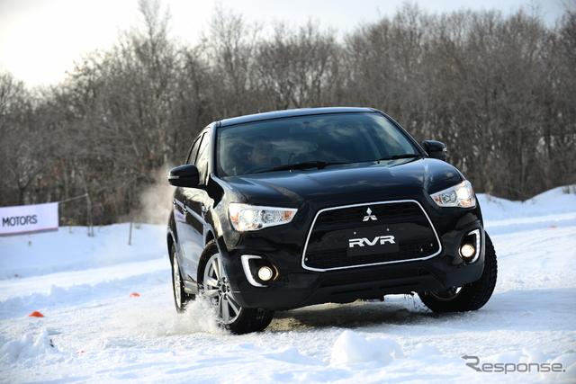 三菱 4WDモデル 雪上試乗会《写真 三菱自動車》