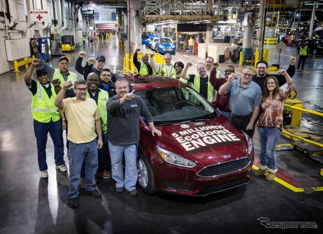 累計生産500万台目のエコブーストエンジン搭載車となったフォードフォーカス