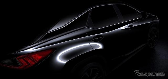 レクサス RX 新型の予告イメージ