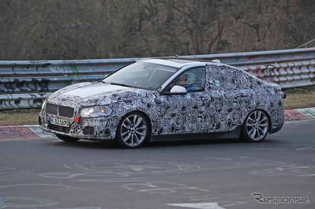 BMW 1シリーズセダン スクープ写真《APOLLO NEWS SERVICE》