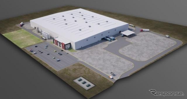 マグナのメキシコ新工場の完成予想図