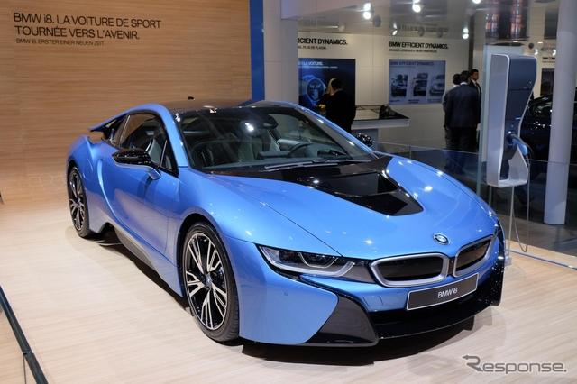 BMW i8 の小改良モデル(ジュネーブモーターショー15)