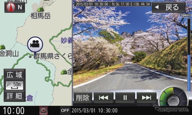 ストラーダ 美優Naviシリーズ専用オプション ドライブレコーダー CA-DR01D