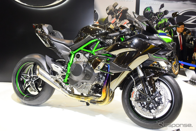 カワサキ ニンジャ H2R(東京モーターサイクルショー15)《撮影 阿部哲也》