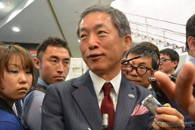 ホンダ 峯川尚 専務執行役員《撮影 小松哲也》
