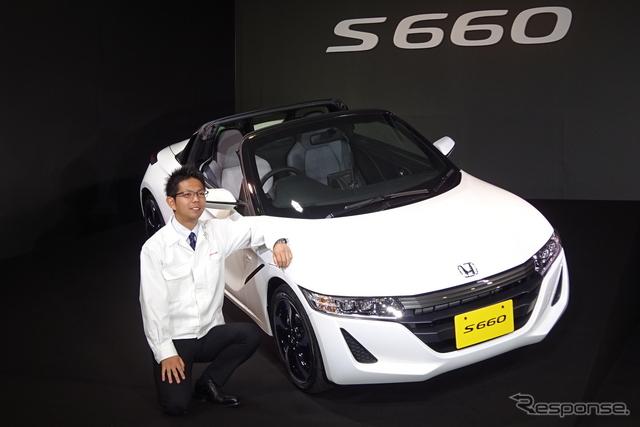 S660開発責任者の椋本陵氏《撮影 池原照雄》