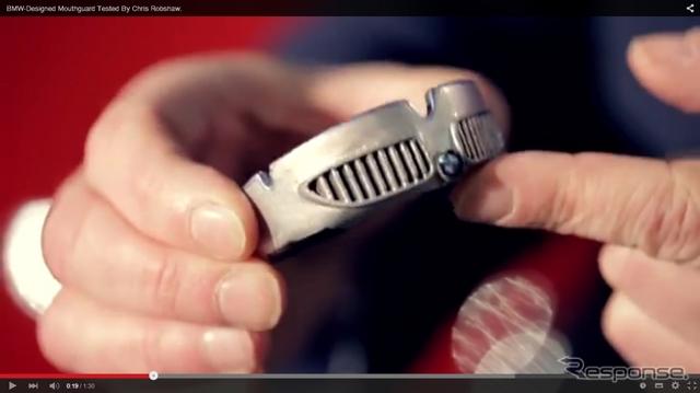 BMWがラグビー選手のために開発したマウスガード