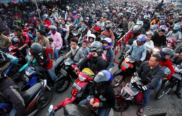 インドネシア バイク(イメージ)写真提供:Getty Images