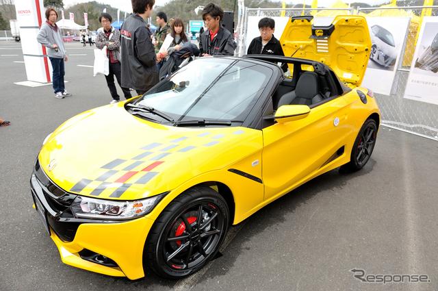 SUPER GT第1戦で展示されたモデューロ S660《撮影 雪岡直樹》