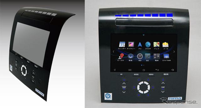 車載ディスプレイ向け3D銅タッチパネルモジュール開発品のサンプルイメージ