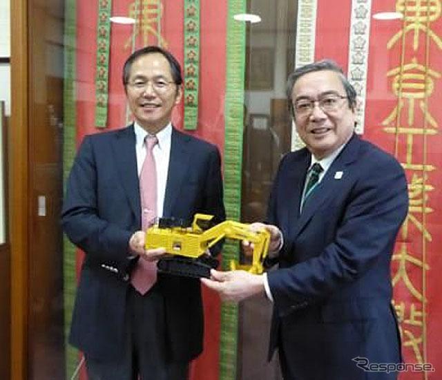 コマツと東工大が建設・鉱山機械の研究開発で連携