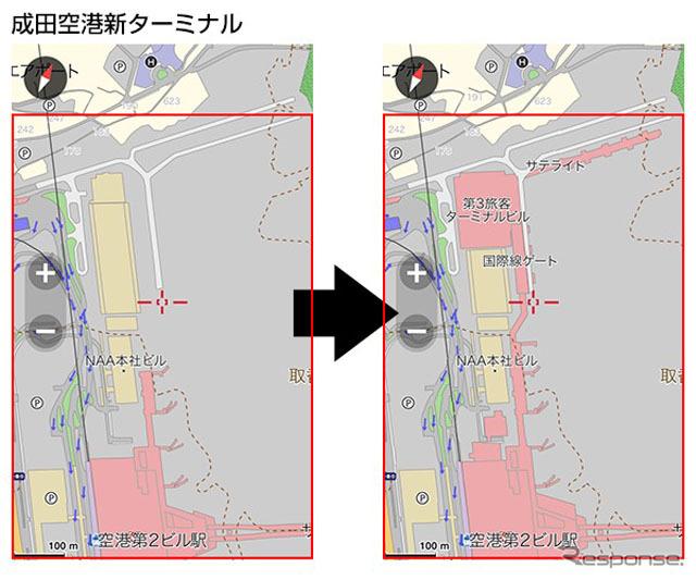成田国際空港 第3旅客ターミナルビル開業前後