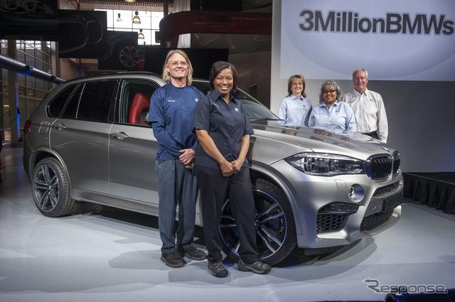 BMWの米国サウスカロライナ州スパータンバーグ工場の累計生産300万台目となった新型X5M