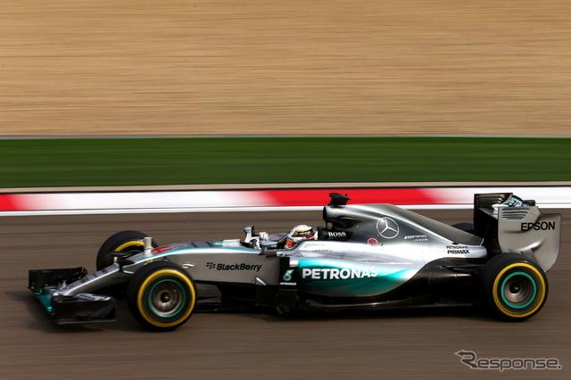F1中国GP初日トップのルイス・ハミルトン《撮影 Getty Images》