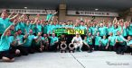 レース後、記念撮影をするメルセデス陣営《画像 Getty Images》