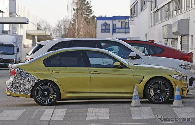 BMW M3セダン スクープ写真《APOLLO NEWS SERVICE》