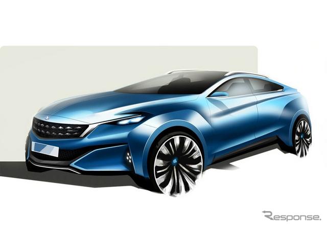 ヴェヌーシアの新コンセプトカーの予告スケッチ