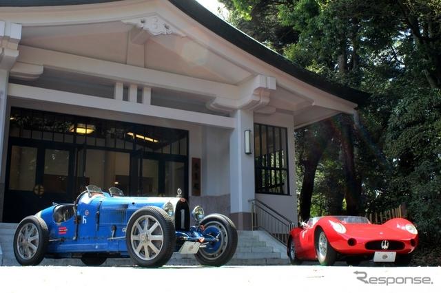 ブガッティT35C(左)とマセラティ 200S(右)《撮影 内田俊一》
