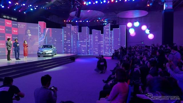 トヨタ自動車が開催した上海モーターショー前夜祭「双げき之夜」《撮影 三浦和也》