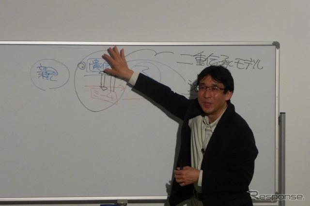東京大学大学院  情報学環長、教授 佐倉統氏《撮影 北原梨津子》