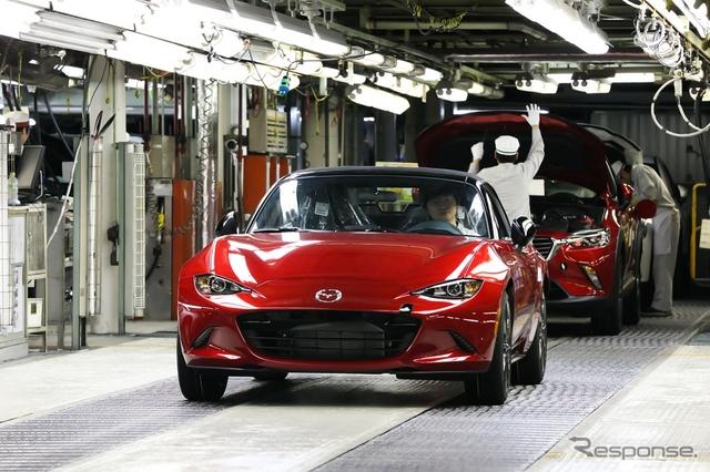 生産が開始された新型マツダ ロードスターの米国仕様車