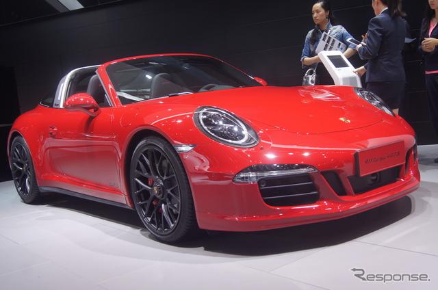 ポルシェ 911タルガ4 GTS(上海モーターショー15)《撮影 瓜生洋明》