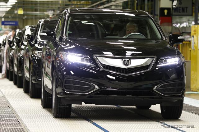 ホンダの米国オハイオ州イーストリバティ工場で生産が開始されたアキュラRDXの2016年モデル