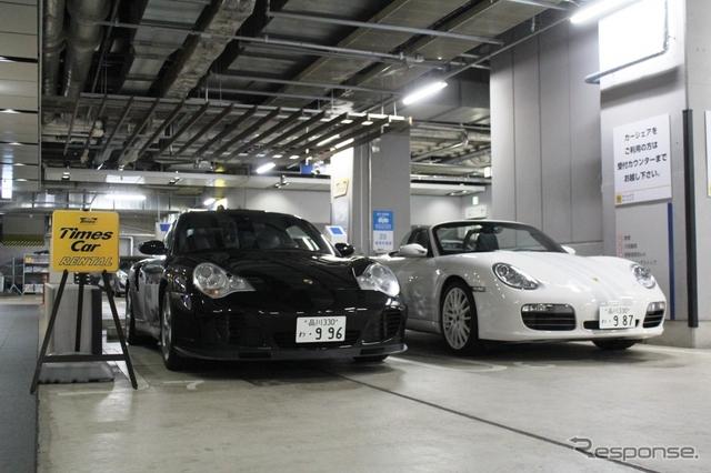 Service Xに追加されたポルシェ 911ターボ(996型)とボクスターS(987型/ポルシェデザインディション2)《撮影 内田俊一》