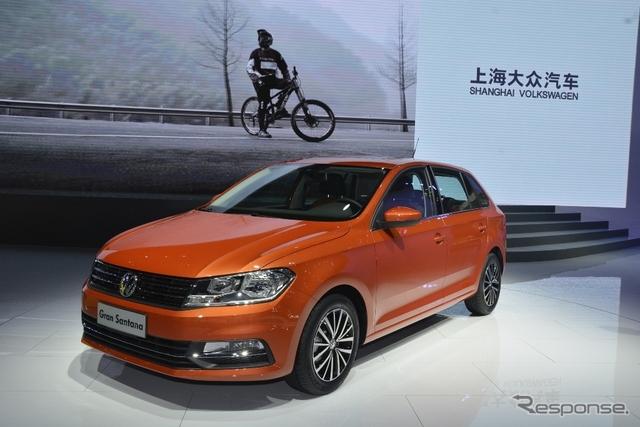 VW グラン サンタナ(上海モーターショー15)《撮影 鈴木ケンイチ》