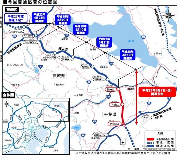 圏央道・神崎IC〜大栄JCTが開通へ