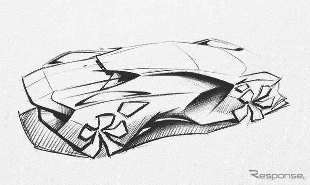 プジョー 謎のコンセプトカーの予告スケッチ