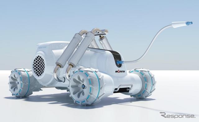 モリタの水を使わない消防車『Habot-mini(ハボットミニ)』《画像提供:モリタ》