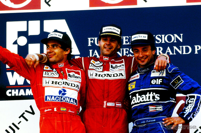 1991年F1日本グランプリの表彰台