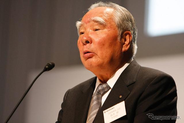 スズキ鈴木修会長(資料画像)