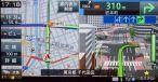 政令指定都市を中心に表示されるリアルな3D交差点ガイド。車線ガイドは別に表示される