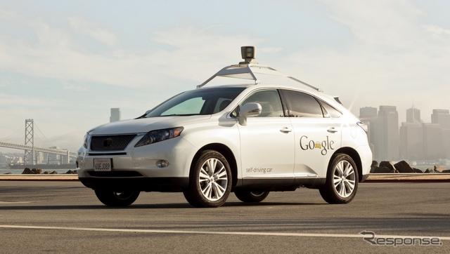 グーグルがロボットカーのテスト車として導入したレクサスRXのハイブリッド、RX450h