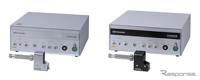 高速応答ガスモニタ「EGR-chaser」(左:酸素濃度計測タイプ、右:二酸化炭素濃度計測タイプ)