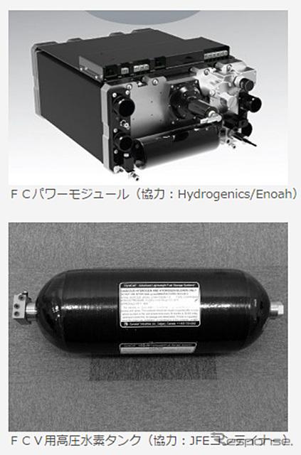 FCパワーモジュールと高圧水素タンク