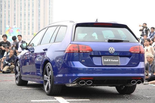 VW ゴルフ R ヴァリアント《撮影 内田俊一》