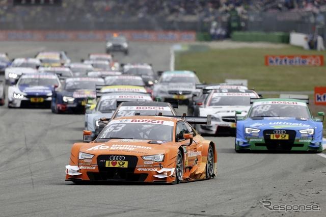 今季のDTMのレースシーン。アウディ、メルセデス、BMWが覇権を争っている。写真:AUDI