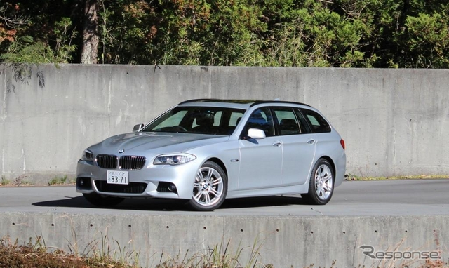 BMW・523dツーリング《撮影 内田俊一》