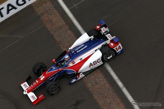 #14 佐藤琢磨にはバッドラックなインディ500になってしまった。写真:Honda(予選)